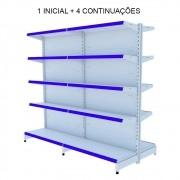 Gôndola Central 5 Metros 1 Inicial e 4 Continuações Amapá Azul
