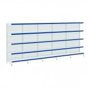 Gôndola Parede Lateral 1 Inicial e 4 Continuação 1,70 de Altura Porta Etiqueta Azul - Amapá