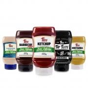 Kit 5 Molhos Mrs Taste BBQ Ketchup Mostarda Zero Calorias