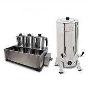 Kit Cafeteira Tradicional 6 Litros 1300 W + Esterilizador 3 Bules Com Termostato - Marchesoni - 220 V