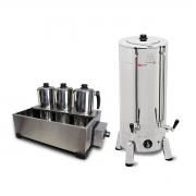 Kit Cafeteira Tradicional 8 Litros 1300 W + Esterilizador 3 Bules Com Termostato - Marchesoni - 220 V