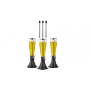 Kit com 3 Torres de Chopp Chopeira Marcbeer 3,5 Litros e 3 Refis Extras - Marchesoni