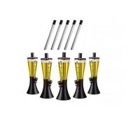 Kit com 5 Torres de Chopp Marcbeer 1,5 Litros e 5 Refis Extra - Marchesoni