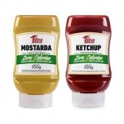 Kit Ketchup e Mostarda Lanches Zero Calorias Mrs Taste