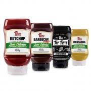 Kit Lanche 4 Molhos Ketchup Barbecue Mostarda Mrs Taste