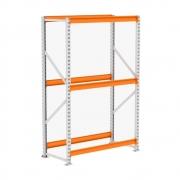Mini Porta Pallet MPP 250 Kg Kit Inicial Lx 2,00 x 1,20 x 0,60 Com 3 Níveis Laranja Sem Bandejas - Amapá