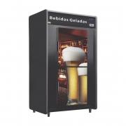 Minicâmara Para Bebidas RF053-Plus Cervejeira 480 Garrafas 20 Caixas Portas Cegas Adesivadas - Frilux