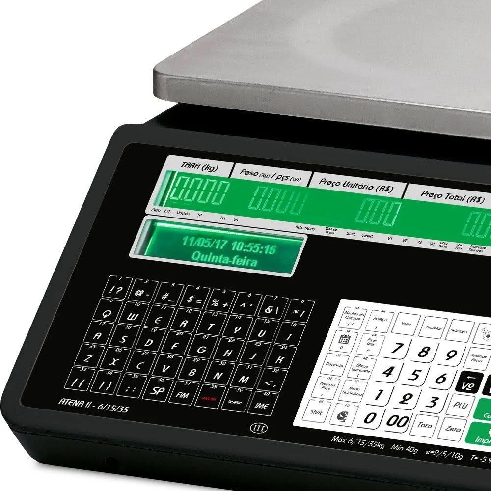 Balança Digital Escala Tripla Wi-Fi Bivolt Atena II Ramuza  - Carmel Equipamentos