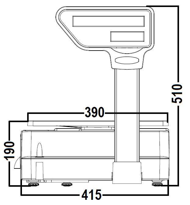 Balança Digital Ramuza com Torre Escala Tripla Bivolt Atena II  - Carmel Equipamentos