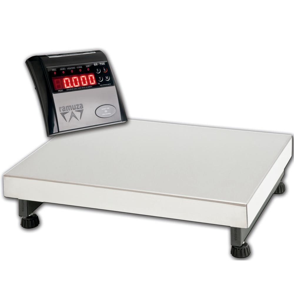 Balança Industrial Dpb300 50x50 Capacidade 300kg/100g Plataforma Inox (bateria) Bivolt - Ramuza  - Carmel Equipamentos