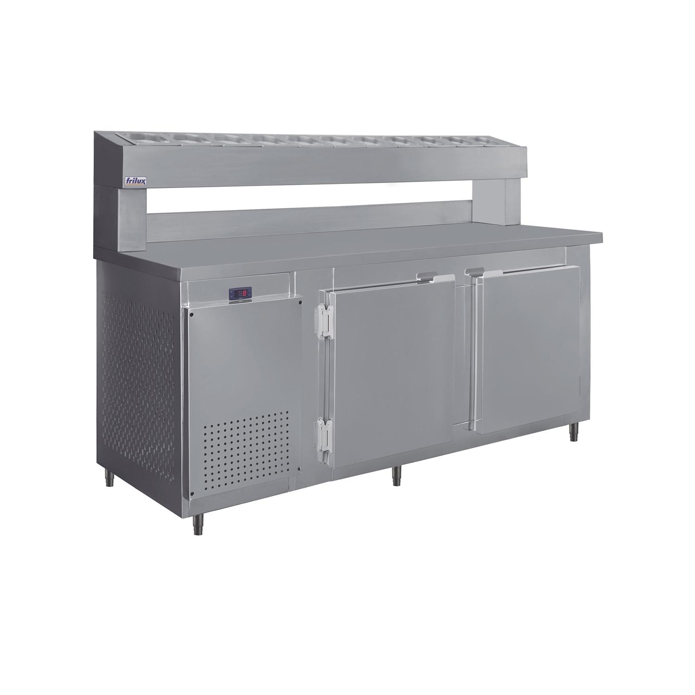 Balcão De Serviço Condimentador 500 Litros Com Cubas de 1/6 Inox RF-041 - Frilux  - Carmel Equipamentos