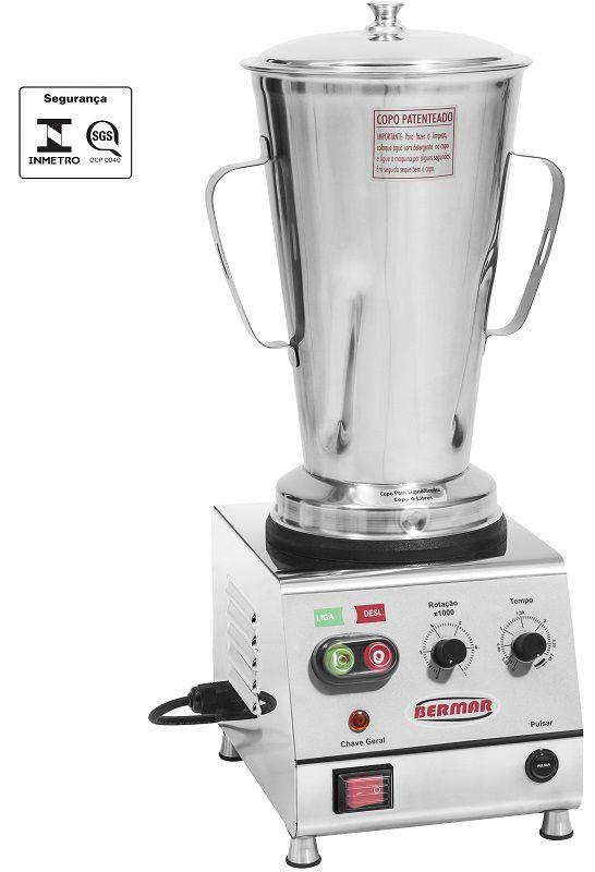 Blender Industrial Bermar 4 Litros 3/4 HP - BM 123 NR - BIVOLT  - Carmel Equipamentos