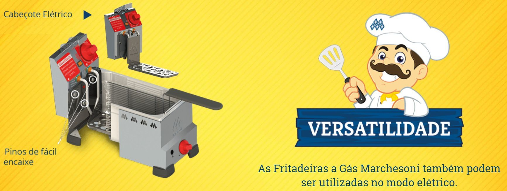 Cabeçote Elétrico para Fritadeiras de 4 ou 8 Litros a Gás Marchesoni - 5418/5425  - Carmel Equipamentos