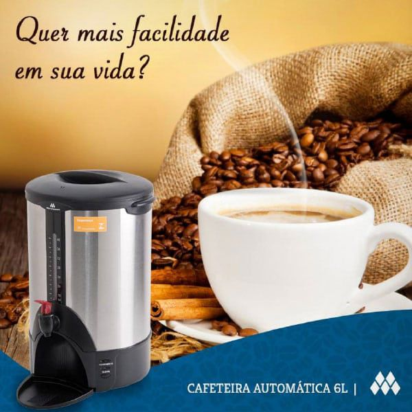 Cafeteira Automática Marchesoni 6 Litros - Cf1691/692  - Carmel Equipamentos