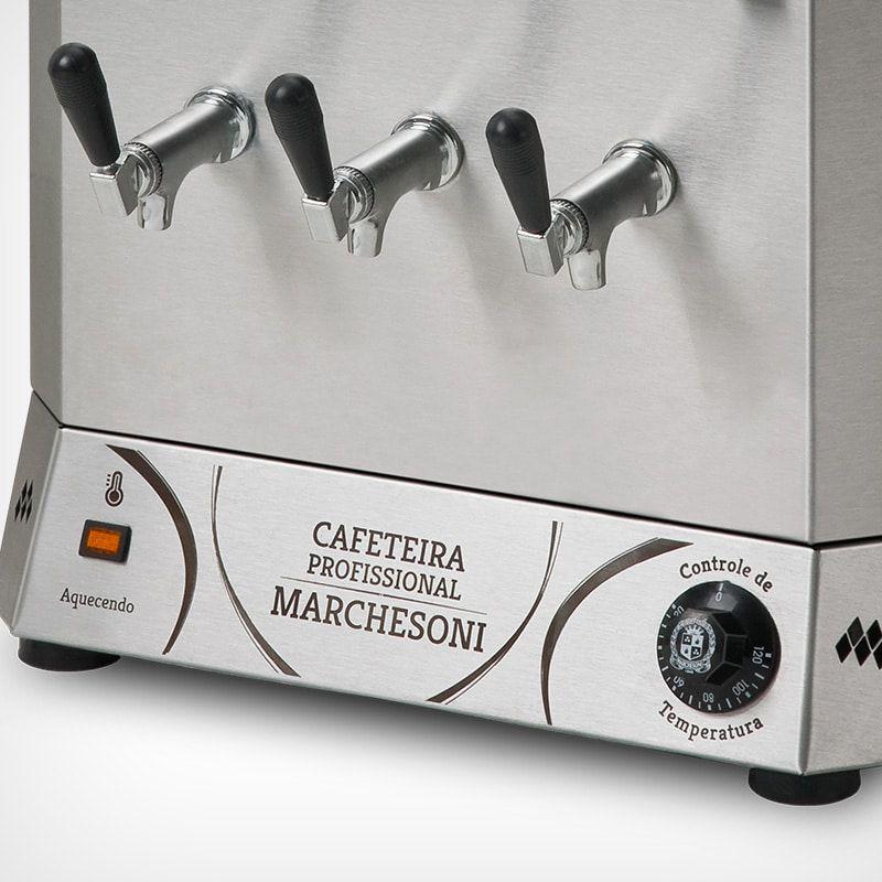 Cafeteira Industrial Marchesoni 8 Litros Linha Profissional - CF4421/422  - Carmel Equipamentos