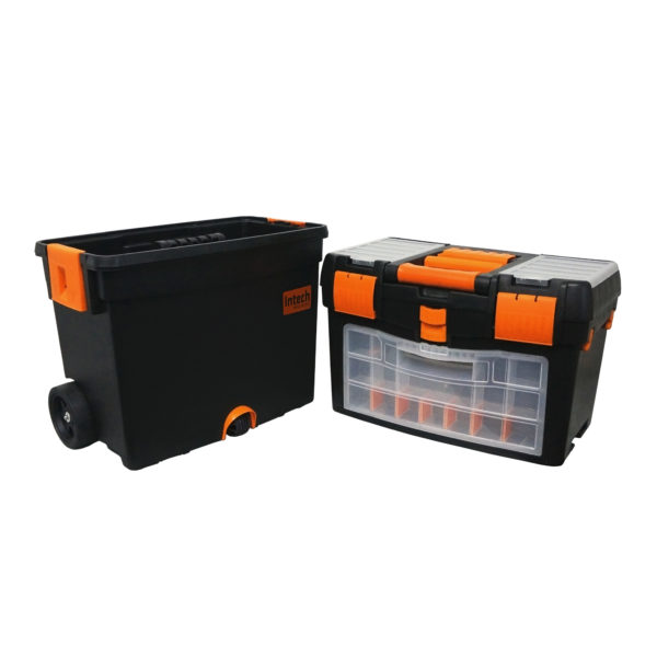 Caixa Organizadora de Ferramentas c/ Rodas Intech Machine Org400  - Carmel Equipamentos