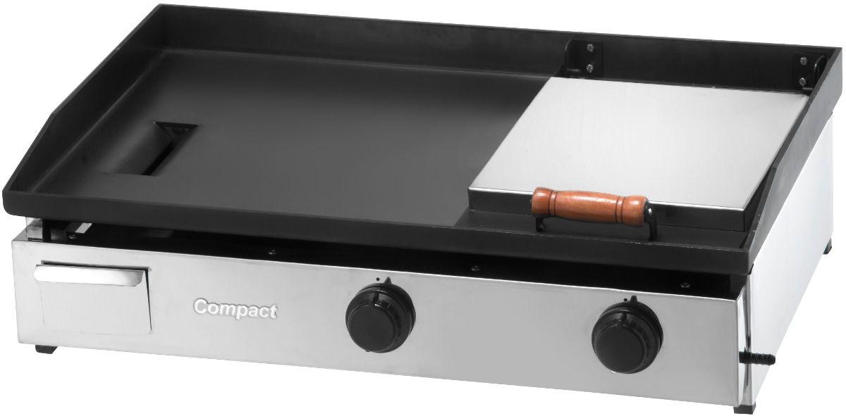 Chapa Bifeteira a Gás 80X50 com Prensa COMPACT - CB80P  - Carmel Equipamentos