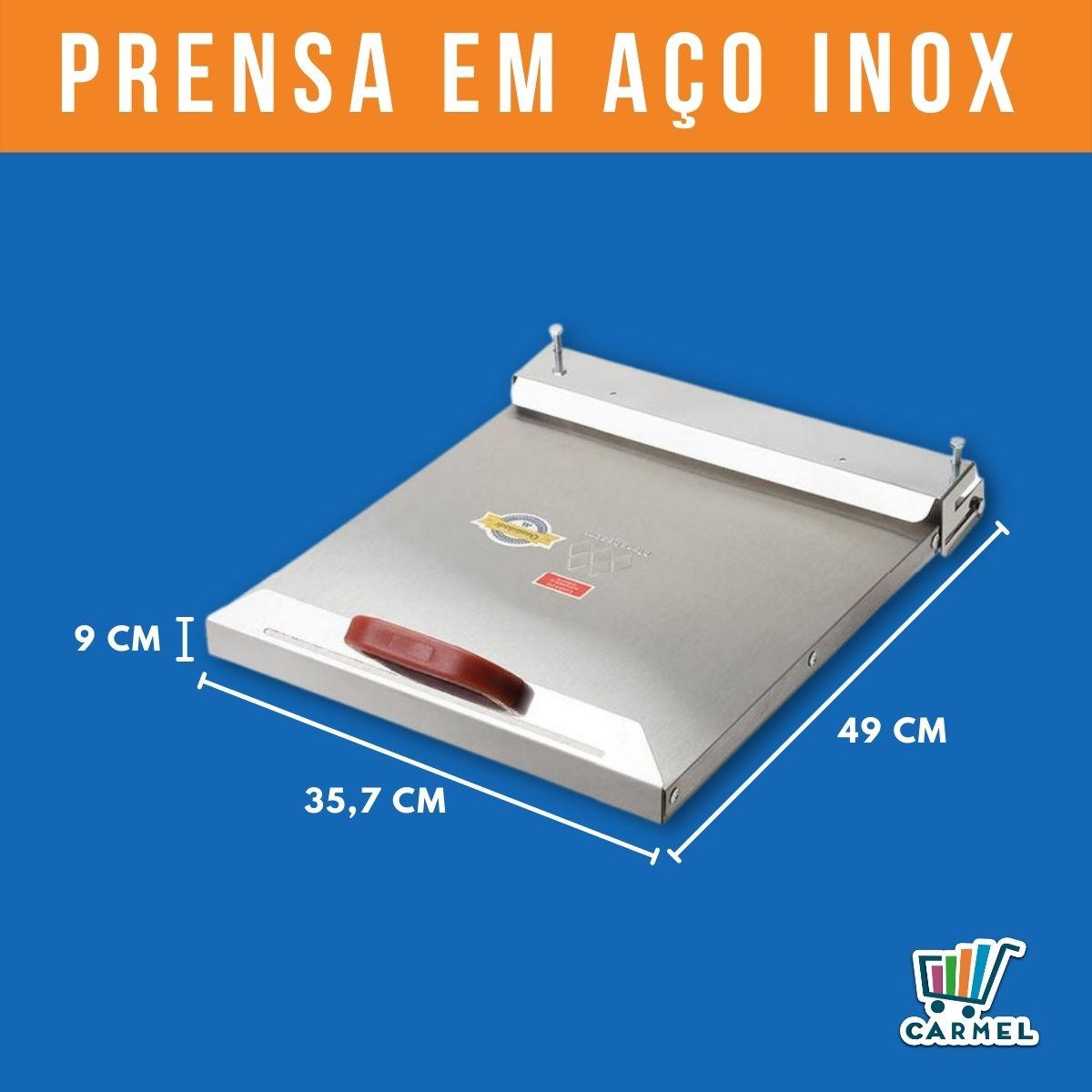 Chapa para Lanches Profissional 60X50 c/ 2 Queimadores e Prensa - Marchesoni  - Carmel Equipamentos