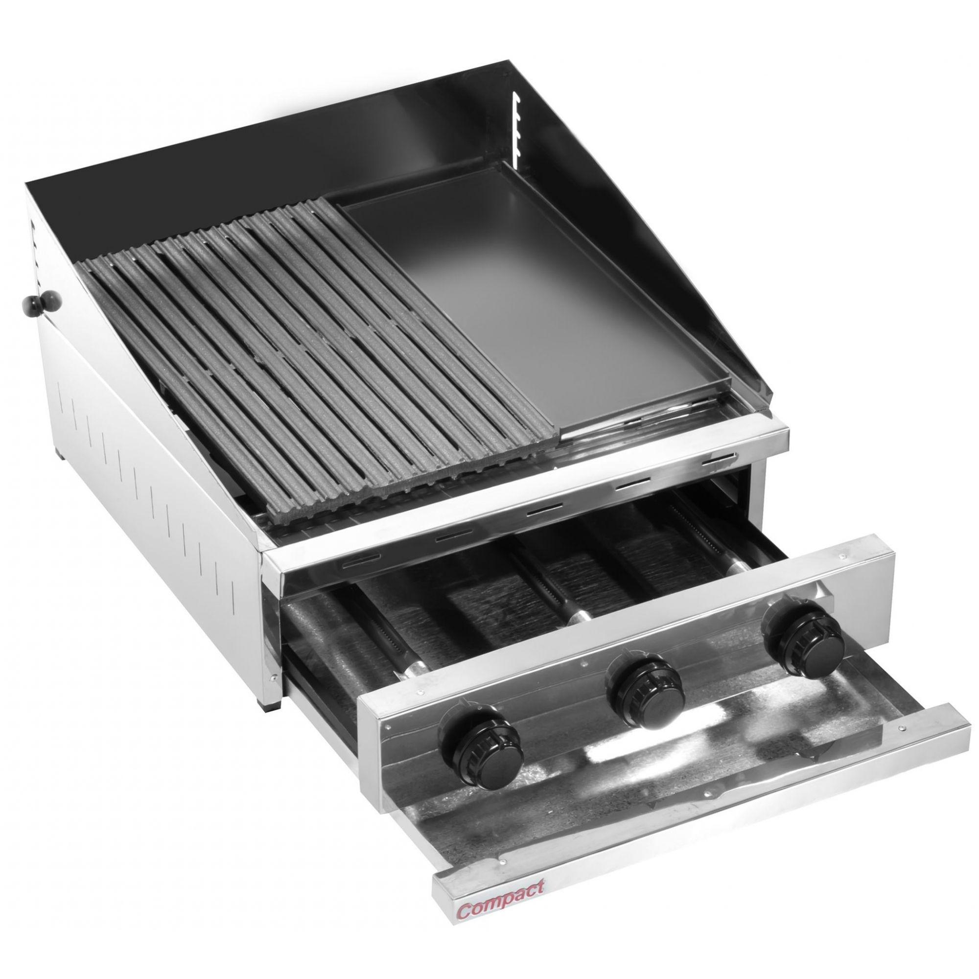 Char Broiler Picanheira c/ Chapa a Gás 63X63 Compact - CH600-FL  - Carmel Equipamentos