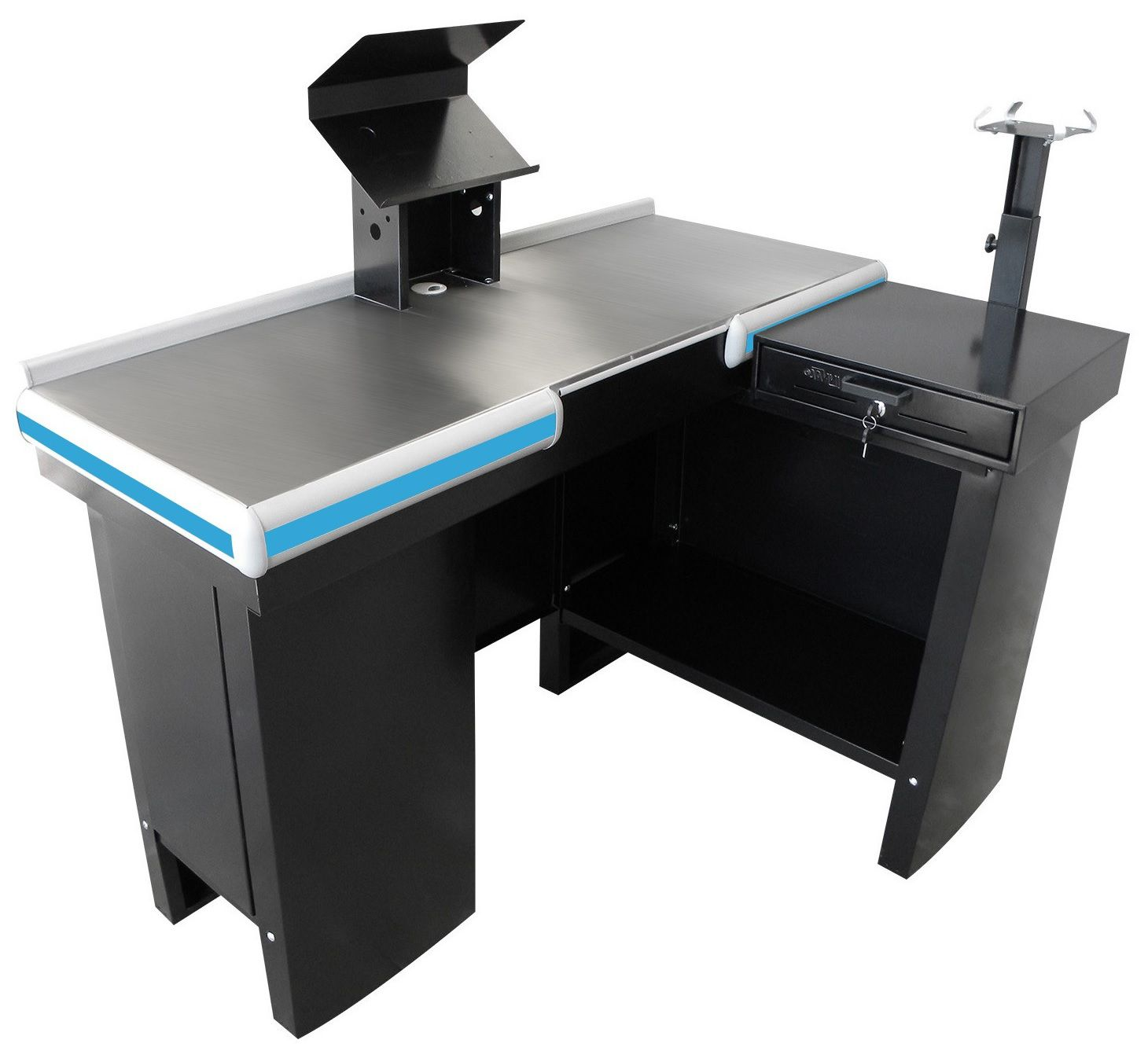 Checkout Caixa de Supermercado Metálico INNAL com Kit para Automação - 1,30 de Largura  - Carmel Equipamentos