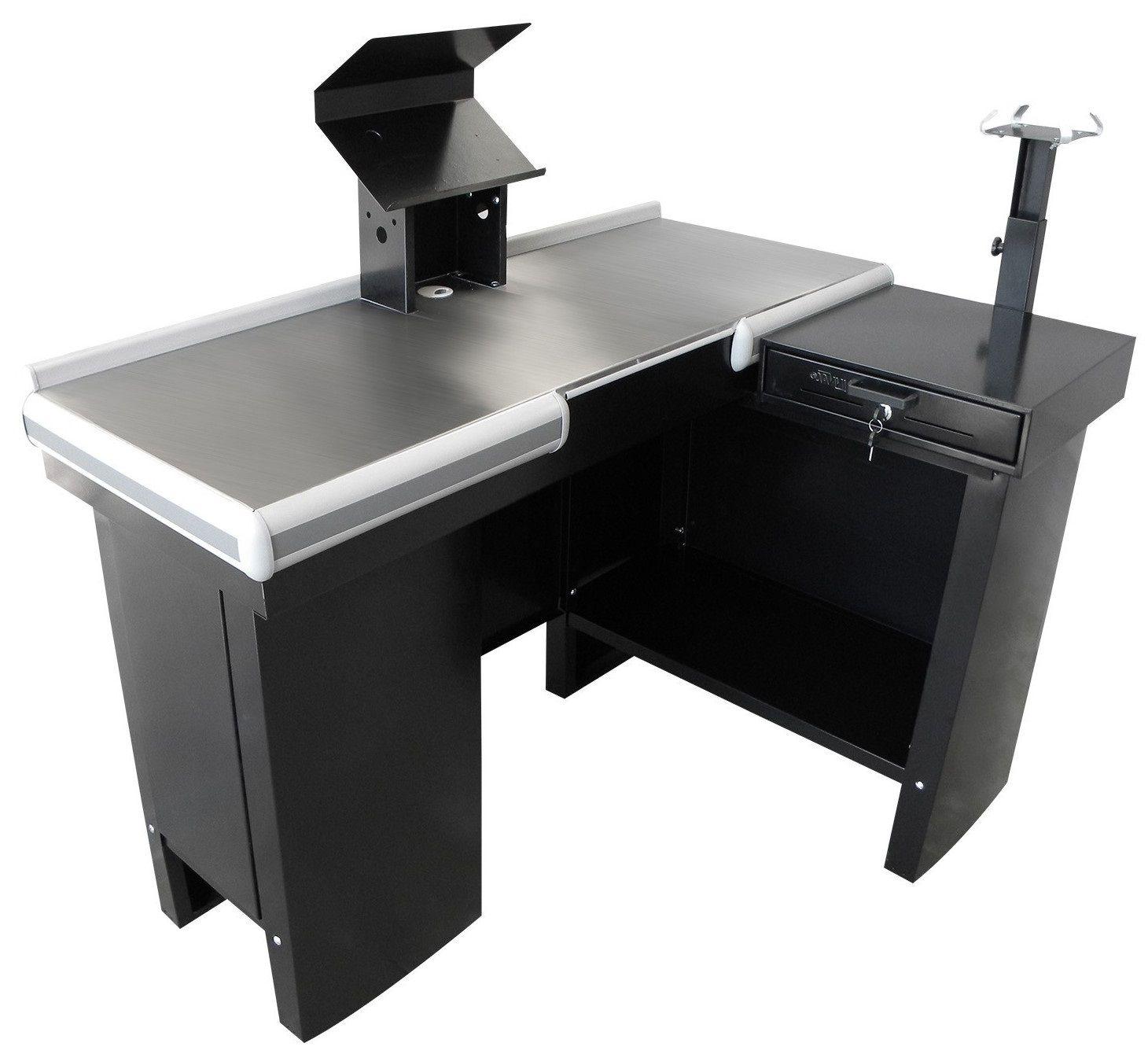 Checkout Caixa de Supermercado 1,30 Metálico com Kit para Automação e Furação Balança - Innal  - Carmel Equipamentos