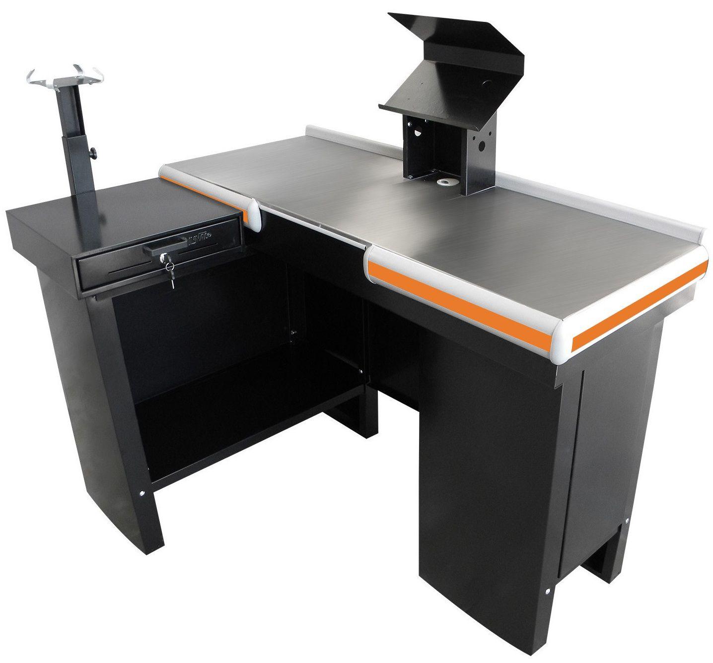 Checkout Caixa de Supermercado Metálico INNAL com Kit para Automação e Furação Balança - 1,30 de Largura  - Carmel Equipamentos