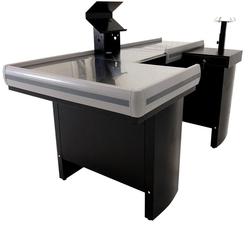 Checkout Caixa de Supermercado Metálico INNAL com Kit para Automação e Furação Balança - 1,80 de Largura   - Carmel Equipamentos