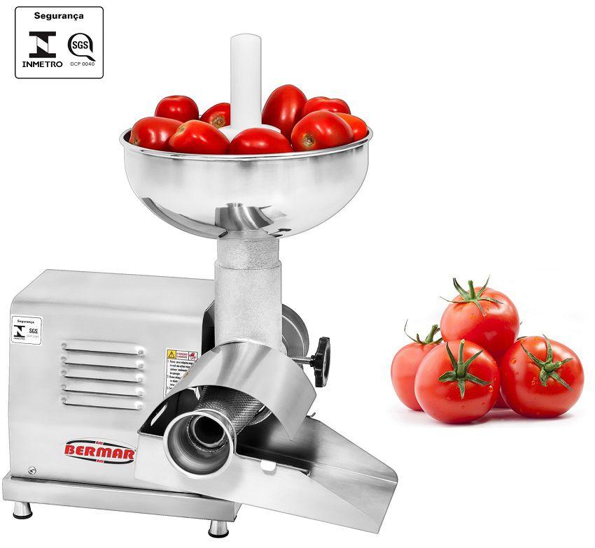 Despolpador de Tomate Bermar em INOX - BM73NR - BIVOLT  - Carmel Equipamentos