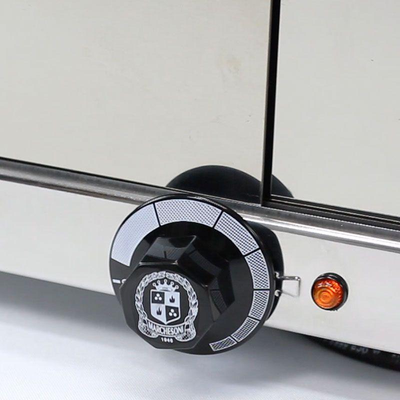 Estufa p/ Salgados Curva c/ Iluminação LED Marchesoni 4 Bandejas Linha Prata - EF.5.041-042  - Carmel Equipamentos
