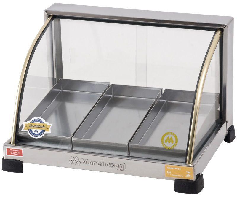 Estufa p/ Salgados Curva Marchesoni 3 Bandejas Linha Ouro - EF.2.031-032  - Carmel Equipamentos