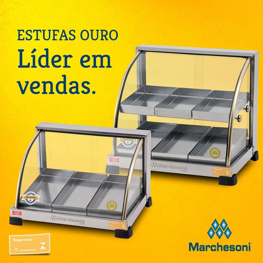 Estufa p/ Salgados Curva Marchesoni 6 Bandejas Linha Ouro - EF.2.061-062  - Carmel Equipamentos