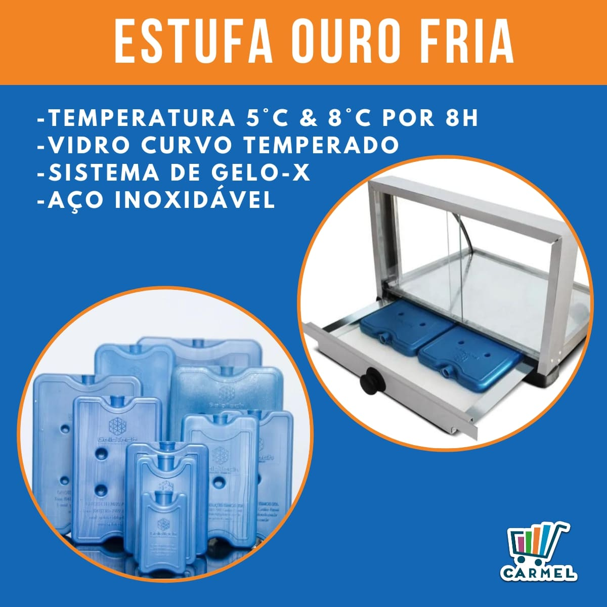 Estufa Fria c/ 6 Gelo-X Marchesoni 55 cm - Ef7030  - Carmel Equipamentos