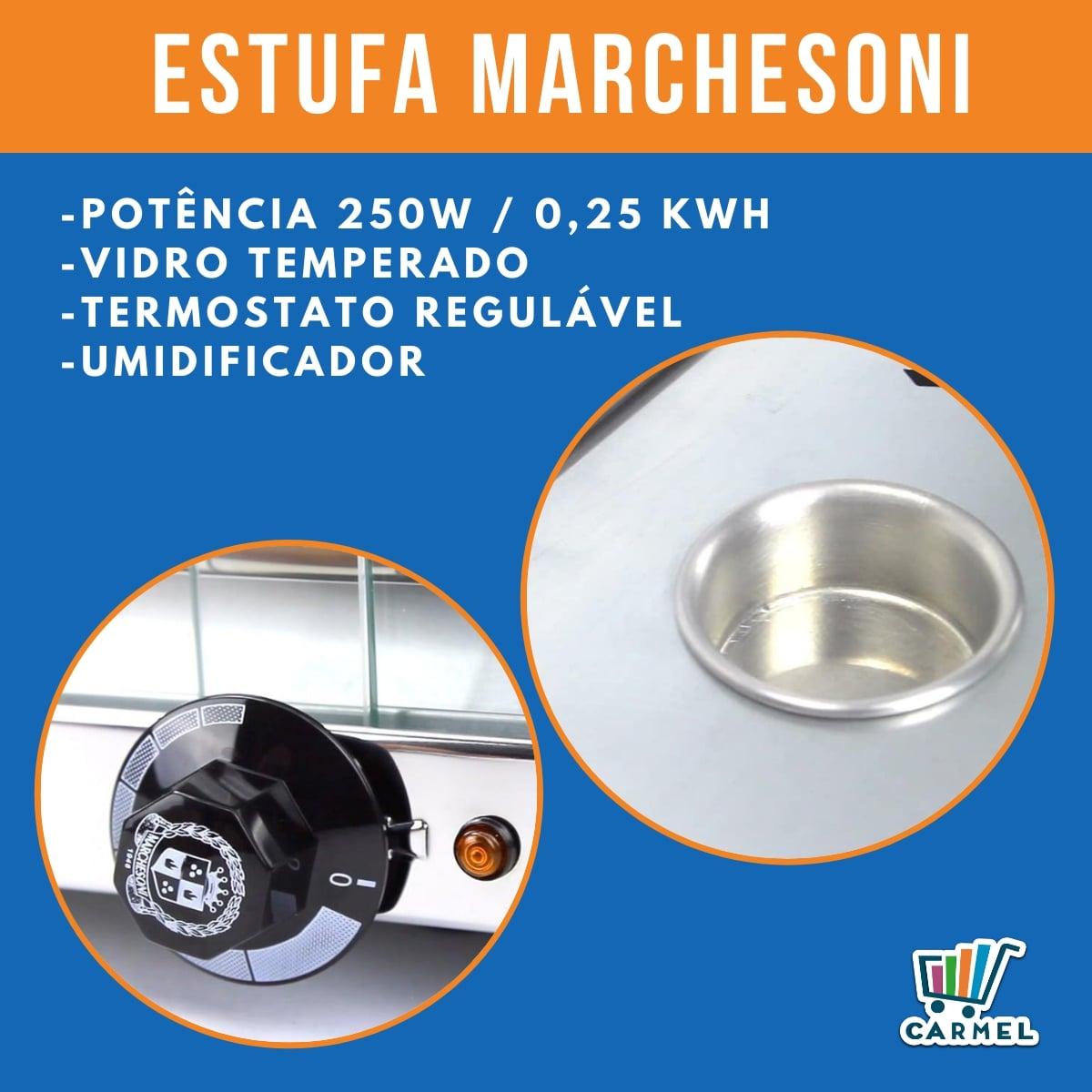 Estufa Para Salgados Dupla Marchesoni 12 Bandejas Linha Ouro - Ef2221/222  - Carmel Equipamentos
