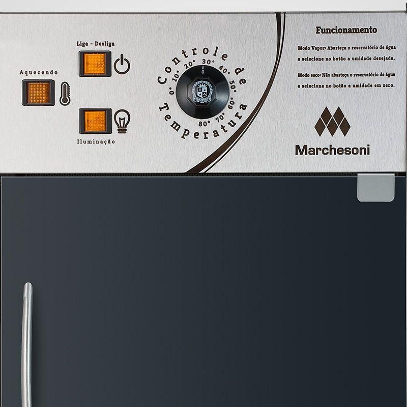 Estufa Para Salgados Vertical c/ Iluminação Led Marchesoni 12 Bandejas Linha Premium - Ef6321/322  - Carmel Equipamentos