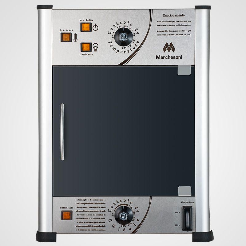 Estufa p/ Salgados Vertical c/ Iluminação LED Marchesoni 8 Bandejas Linha Premium - EF6281/282  - Carmel Equipamentos