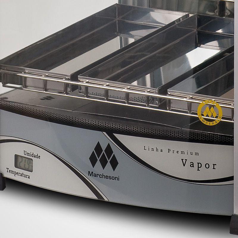 Estufa p/ Salgados Vertical c/ Iluminação LED Marchesoni 9 Bandejas Linha Premium - EF.6.391/392  - Carmel Equipamentos