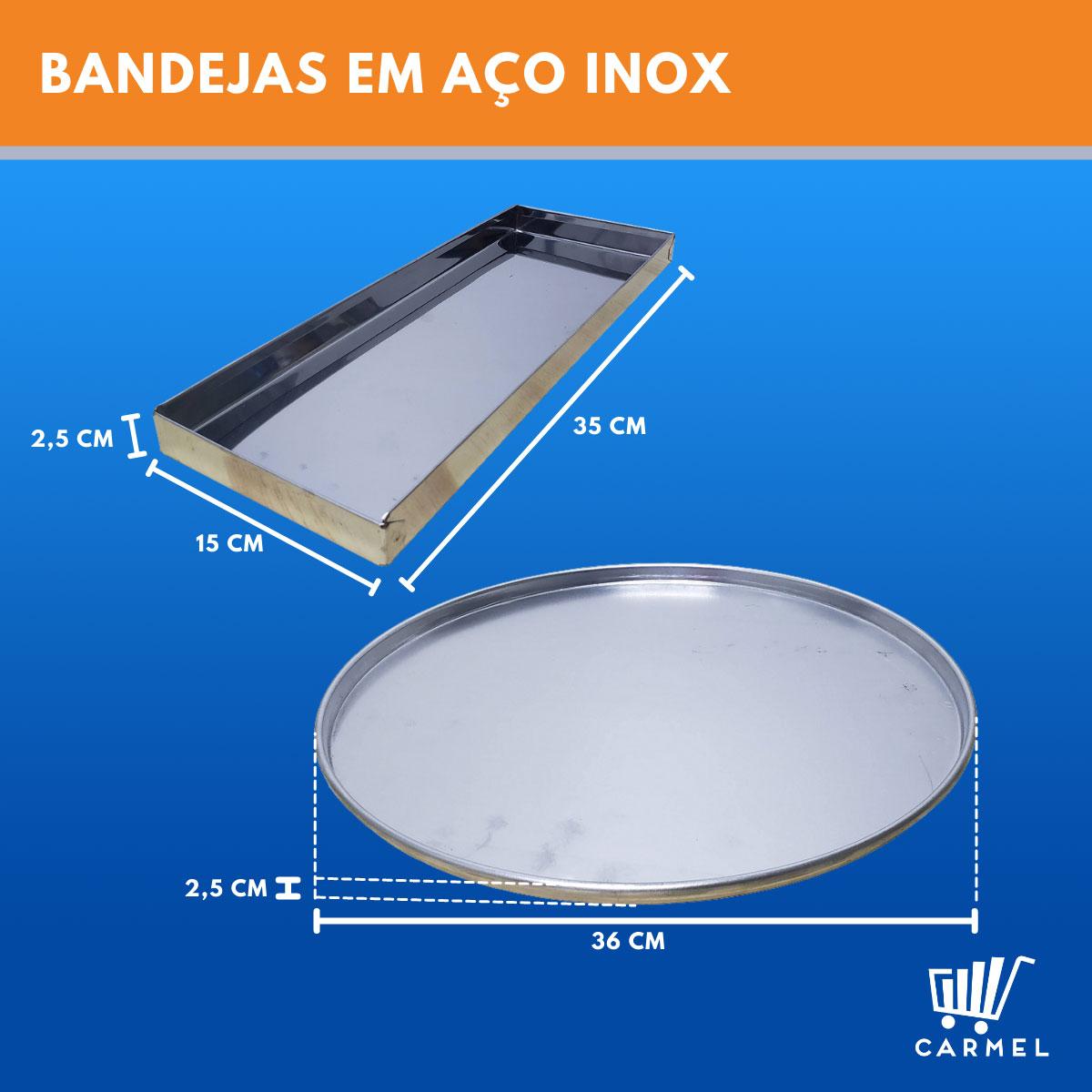 Estufa Vidro Curvo 3 Bandejas e Porta Pizza Em Linha Luxo - Supritecs  - Carmel Equipamentos