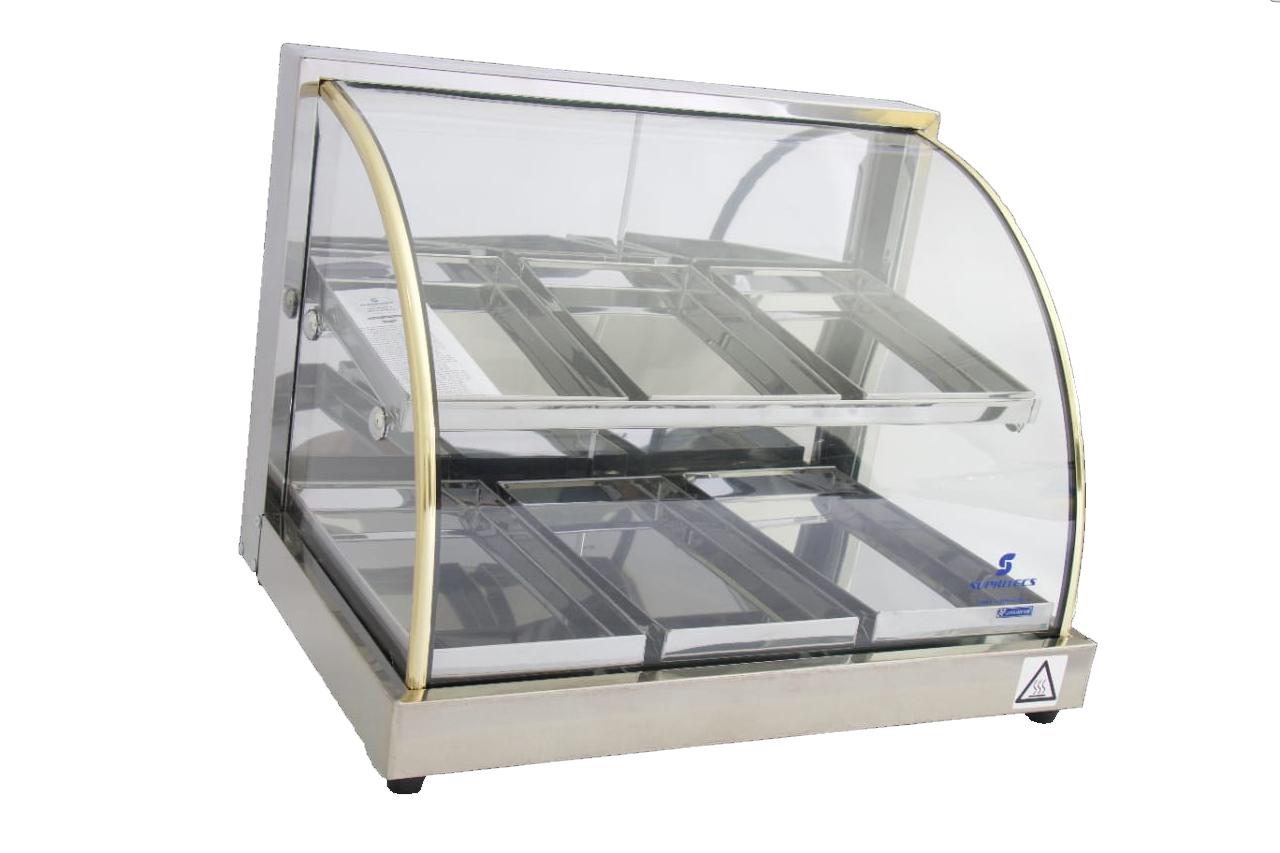 Estufa Vidro Curvo Dupla 6 Bandejas Em Linha Luxo - Supritecs  - Carmel Equipamentos
