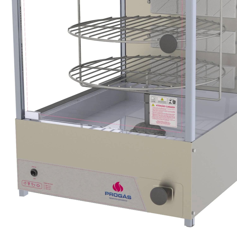 Forno Giratório Multiuso Inox Escovado 20Kg Com Gaveta Coletora PRP-124G Porta de Vidro - Progás  - Carmel Equipamentos