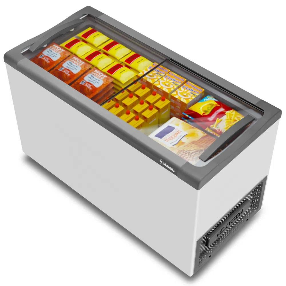 Freezer Horizontal Nextgen Supra Branco Expositor Horizontal Com Tampa de Vidro NF40S 388 Litros - Metalfrio  - Carmel Equipamentos