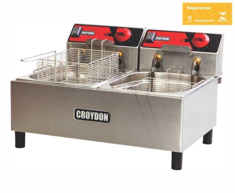 Fritadeira 2 Cubas 4,5 Litros 220 V Croydon  - Carmel Equipamentos