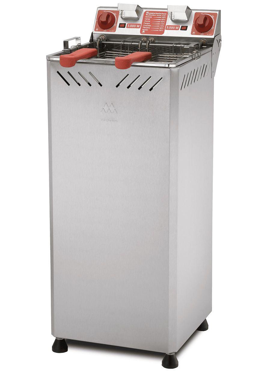 Fritadeira Elétrica Água e Óleo c/ Gabinete Marchesoni 25 litros - FT.2.251.G/252.G  - Carmel Equipamentos