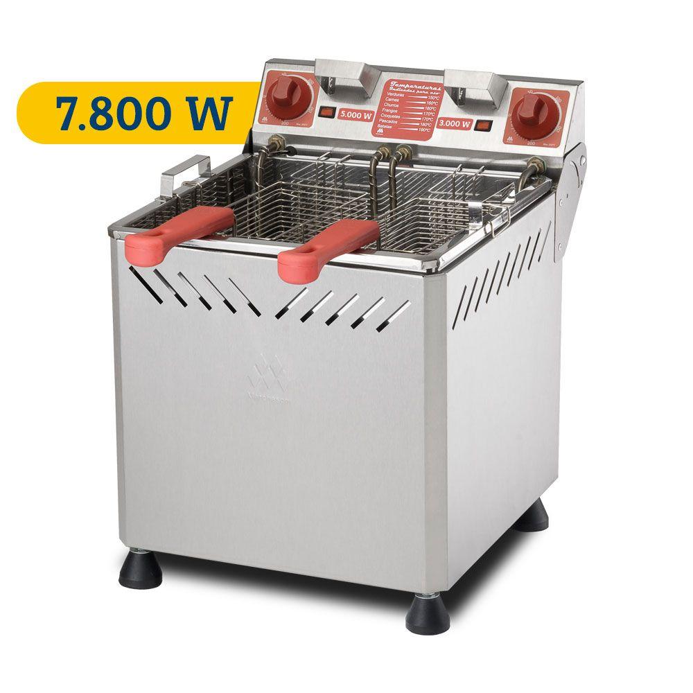 Fritadeira Elétrica Água e Óleo Marchesoni Industrial com 7.800 W e 25 litros - Ft22528  - Carmel Equipamentos