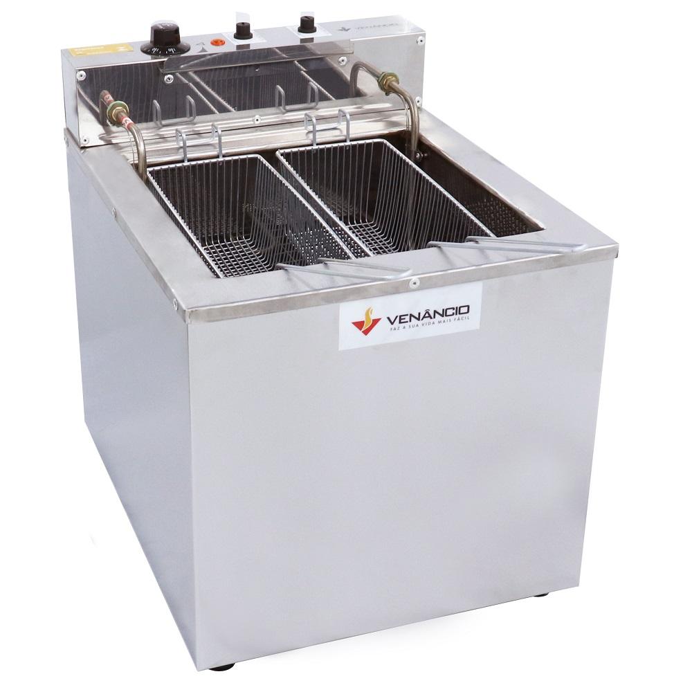 Fritadeira Elétrica De Bancada 23 Litros Água e Óleo Fritador Inox De Mesa SFAO4 Venâncio