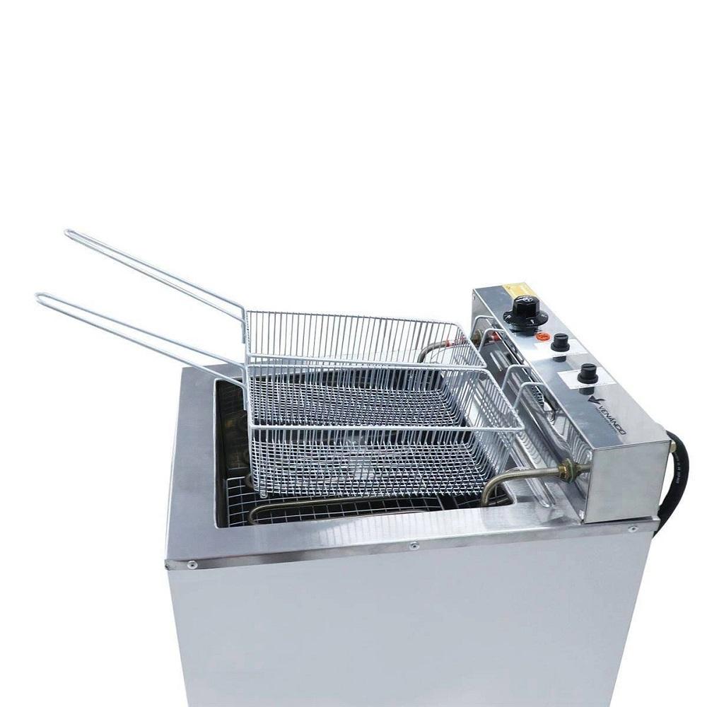 Fritadeira Elétrica De Bancada 23 Litros Água e Óleo Fritador Inox De Mesa SFAO4 Venâncio  - Carmel Equipamentos