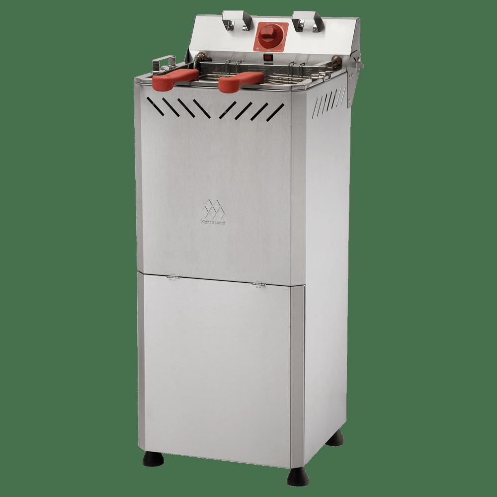 Fritadeira Elétrica Zona Fria Água e Óleo c/ Gabinete Marchesoni 18 litros - Ft3181G/182G  - Carmel Equipamentos
