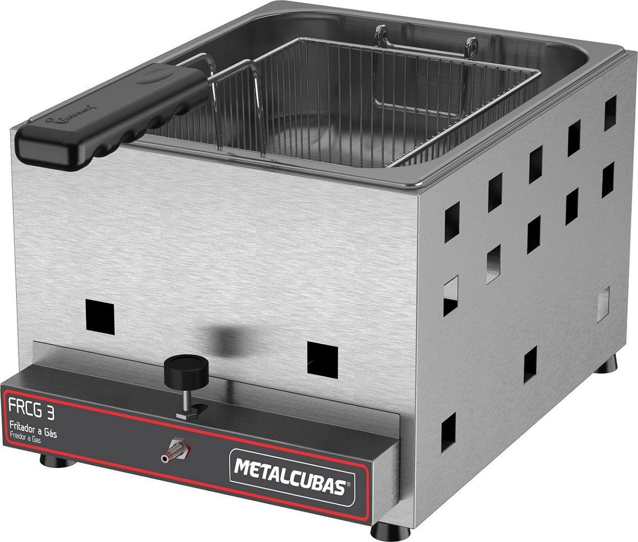 Fritadeira Industrial a Gás 3 Litros Metalcubas - FRCG 3  - Carmel Equipamentos