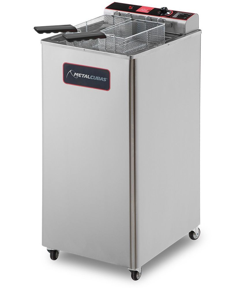 Fritadeira Industrial Elétrica 30 Litros Metalcubas 5000W - GFAO 30 P  - Carmel Equipamentos