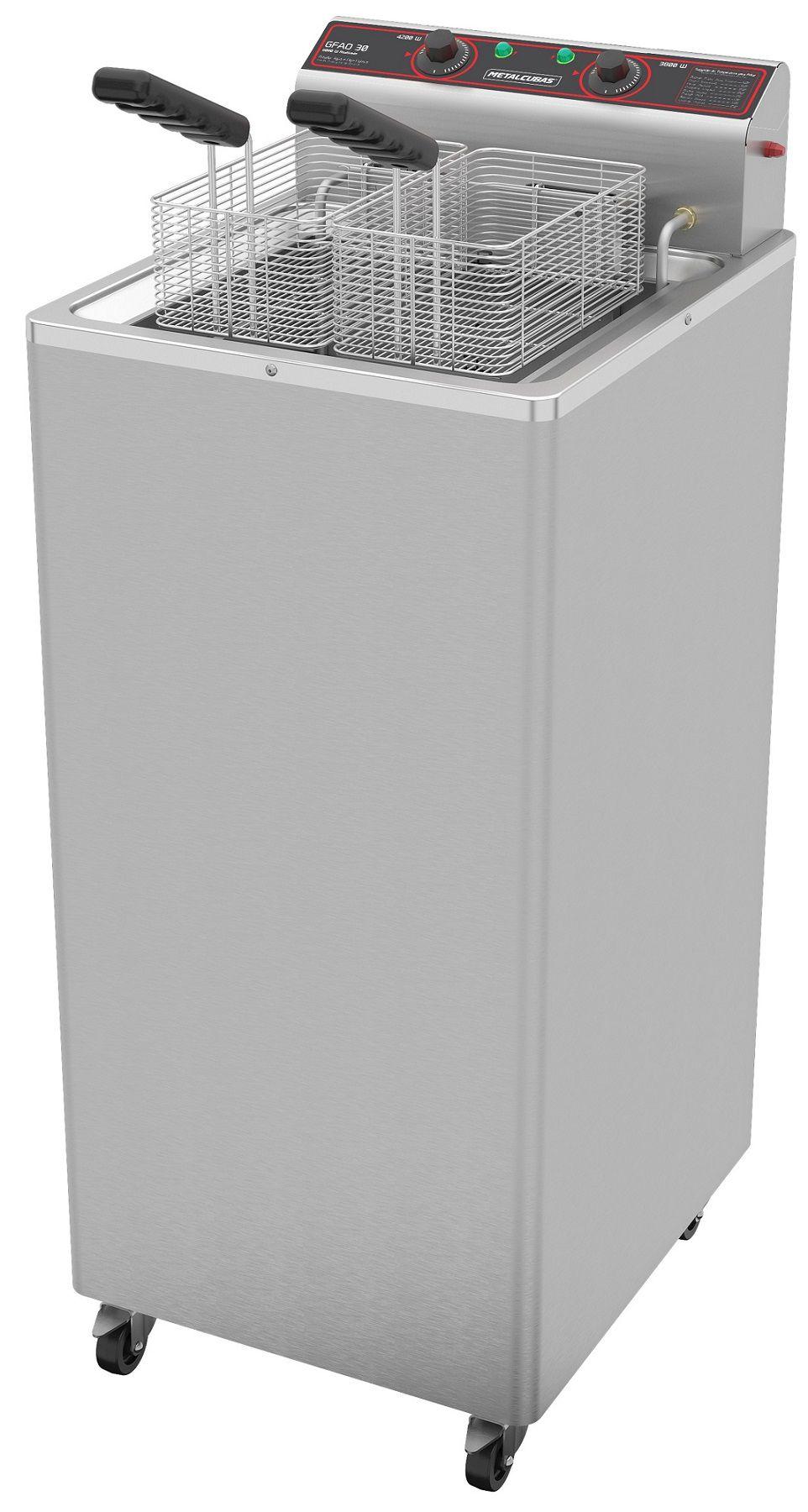 Fritadeira Industrial Elétrica 30 Litros Metalcubas 8000W - GFAO 30 P  - Carmel Equipamentos