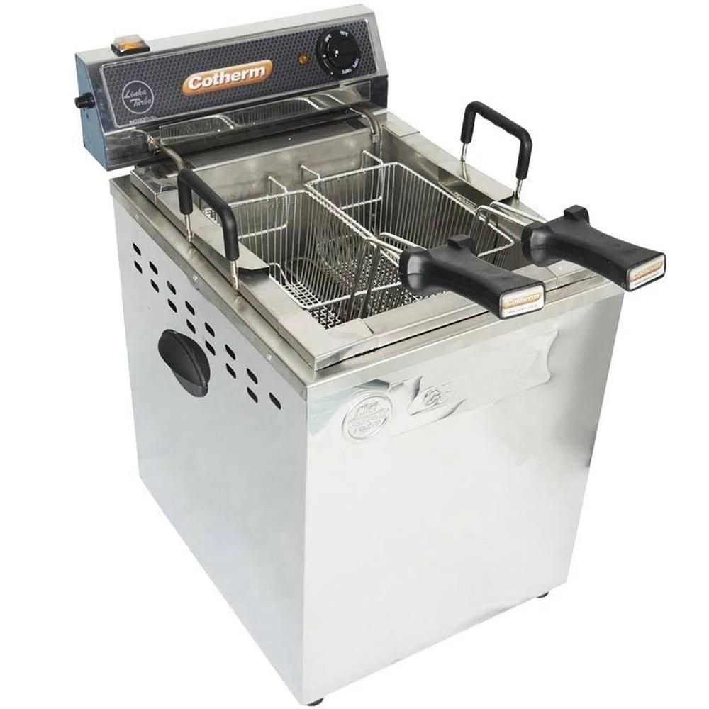 Fritadeira Industrial Elétrica Água e Óleo 18 Litros Turbo Mesa 8000 W - Cotherm
